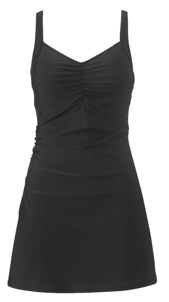 Bademode - HEMA Damen Badekleid Badeanzug, Figurformend Schwarz  - Onlineshop HEMA