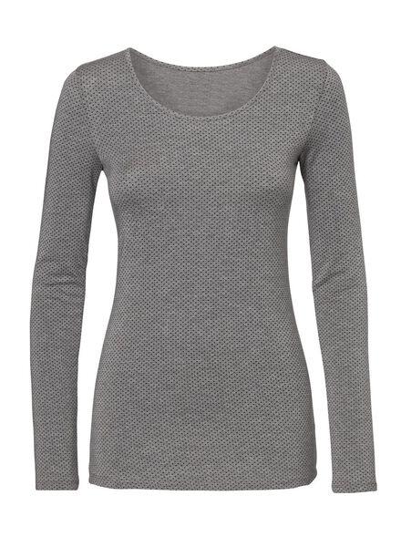 HEMA T-shirt Thermo Femme Gris Chiné (gris chiné)