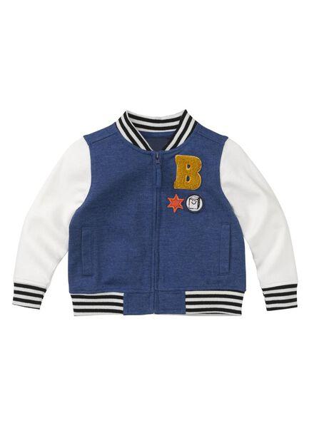 blouson baseball bébé bleu bleu - 1000008448 - HEMA