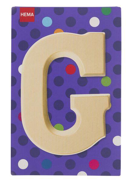white chocolate letter G - 10037006 - hema