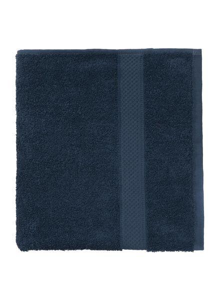 serviette de bain-60x110 cm-qualité épaisse-denim uni - 5240181 - HEMA