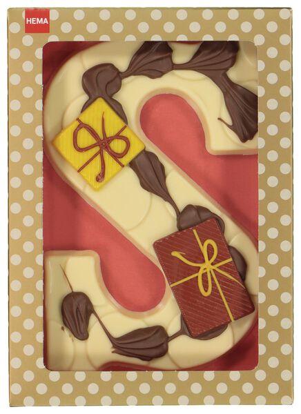 decorated white chocolate letter S - 10038052 - hema