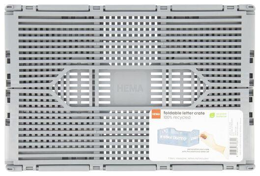 caisse pliante tableau recyclée 20x30x11.5 - gris gris 20 x 30 x 11,5 - 39821032 - HEMA