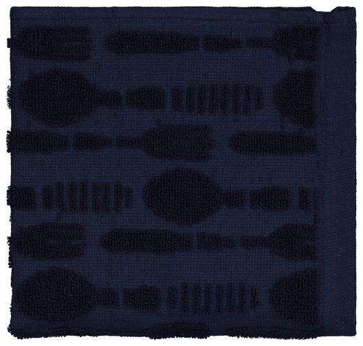 Küchenhandtuch, Besteckmuster, 50 x 50 cm, Baumwolle, dunkelblau - 5410135 - HEMA