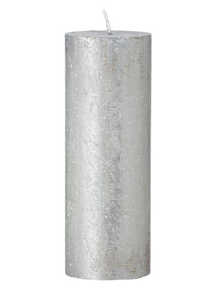 rustikale Kerze silber silber - 1000017623 - HEMA