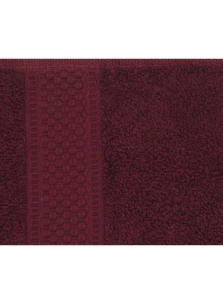 serviette de bain - 50x100 cm - qualité épaisse - bordeaux - 5220004 - HEMA