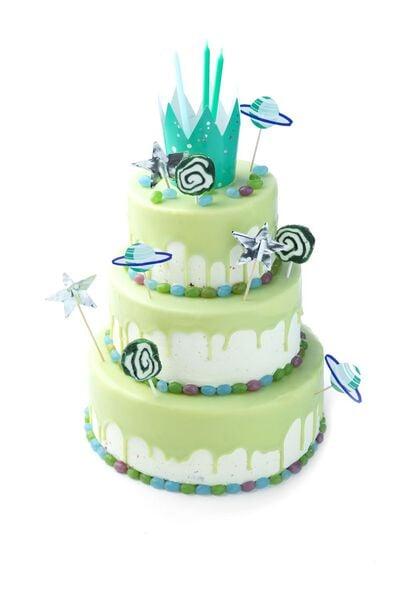 Image of HEMA 10 Cake Candles 13.5 Cm - Rainbow