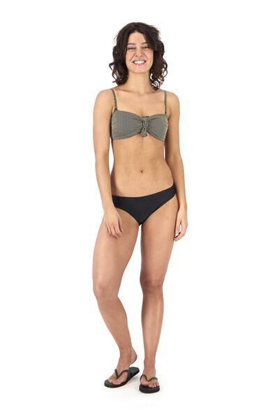 gepolstertes Damen-Bandeau-Bikinioberteil schwarz schwarz - 1000017900 - HEMA