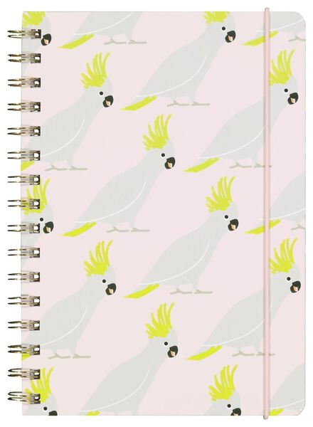 notebook A5 ruled cockatoos - 14590234 - hema