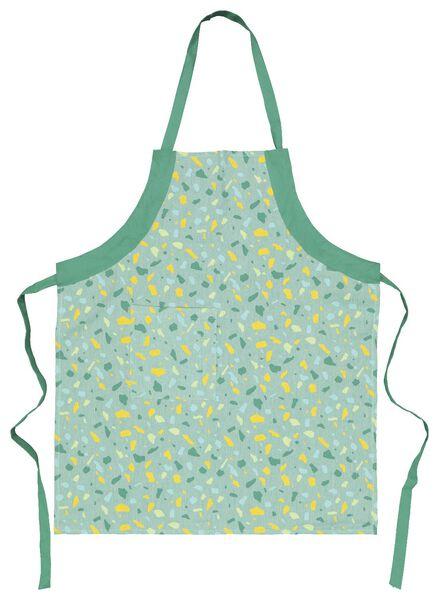 tablier de cuisine coton chambray terrazzo vert - 5420010 - HEMA