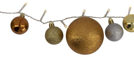 guirlande lumineuse boules de noël or/argent 40 ampoules LED 3 mètres - 25530323 - HEMA