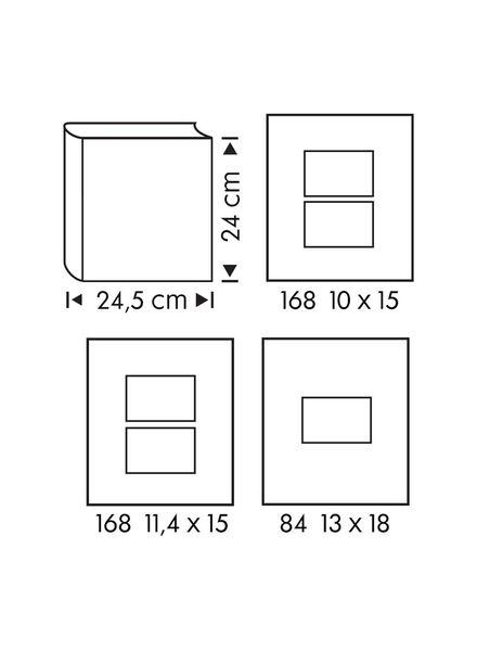 Fotoalbum, 24 x 24.5 cm, Blattmuster - 14634330 - HEMA