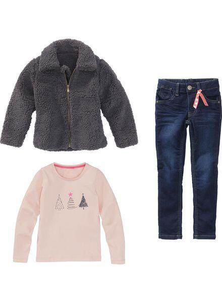 jean skinny enfant - stretch bleu foncé bleu foncé - 1000005968 - HEMA