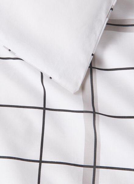 housse de couette-coton doux-140x200cm-blanc carreaux noir/blanc 140 x 200 - 5750019 - HEMA