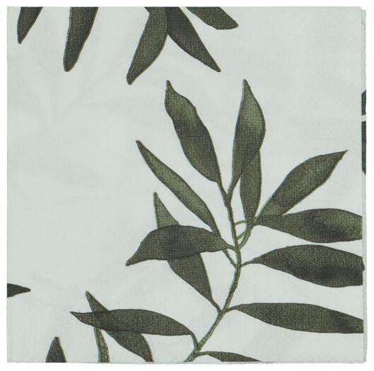 20er-Pack Servietten, 33 x 33 cm, Papier, Blattmuster - 14200357 - HEMA