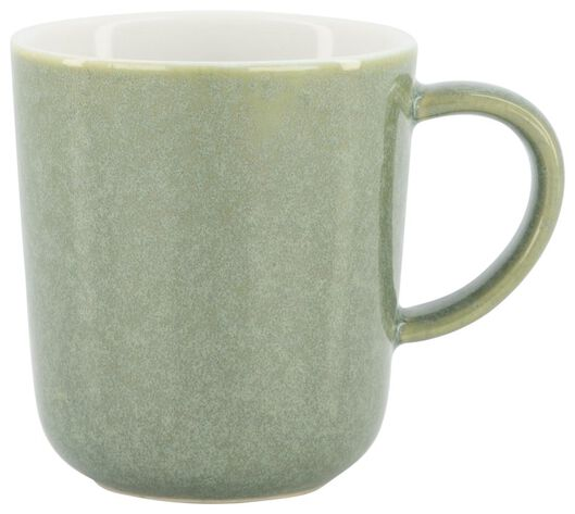Kaffeetasse Chicago, 130 ml, reaktive Glasur, grün - 9602157 - HEMA