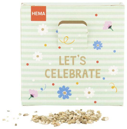 throw & grow confetti flower seeds - let's celebrate - 41810085 - hema