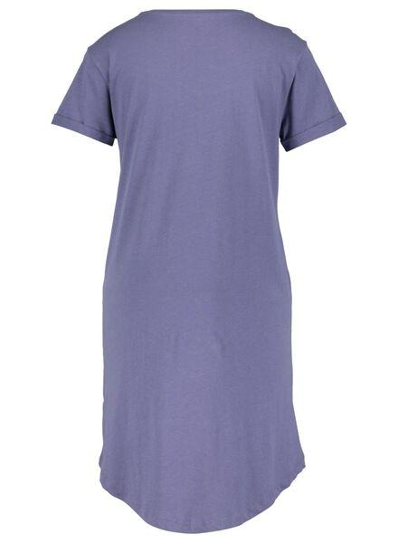 women's nightshirt blue blue - 1000015502 - hema