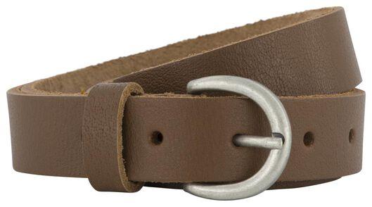 women's belt full grain leather 2.5 cm brown brown - 1000023439 - hema