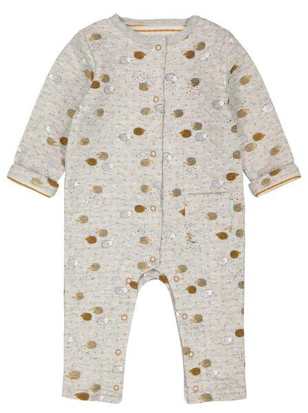 combinaison bébé rembourrée hérissons gris gris - 1000024481 - HEMA
