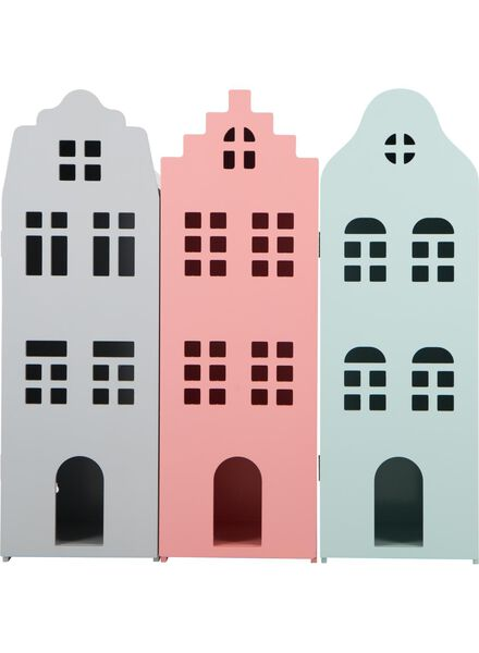 wooden canal-side house 24.5 x 25 x 75 - coral pink - 15190073 - hema