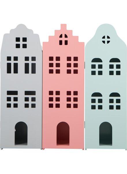 Holz-Grachtenhaus, 24.5 x 25 x 75 cm, mintgrün - 15190072 - HEMA