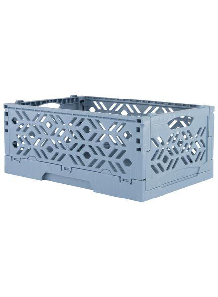 caisse pliante recyclée 24 x 16 x 9.5 cm - bleu - 39891051 - HEMA