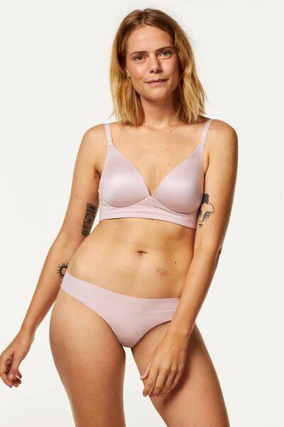 padded bra with no underwire micro extra soft pink pink - 1000020059 - hema