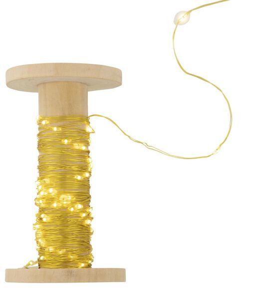 verlichtingssnoer goud 100 LED lampjes - 10 meter - 25530328 - HEMA
