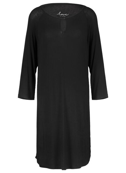 women's nightshirt black black - 1000015505 - hema