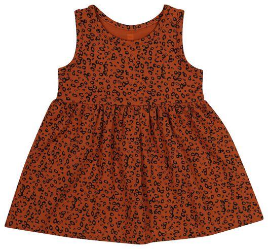 Babykleiderroecke - HEMA Baby Kleid, Ärmellos, Biobaumwolle Braun - Onlineshop HEMA