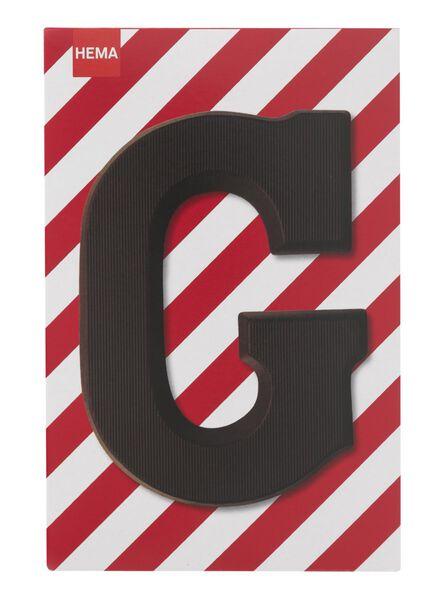 dark chocolate letter G - 10034006 - hema