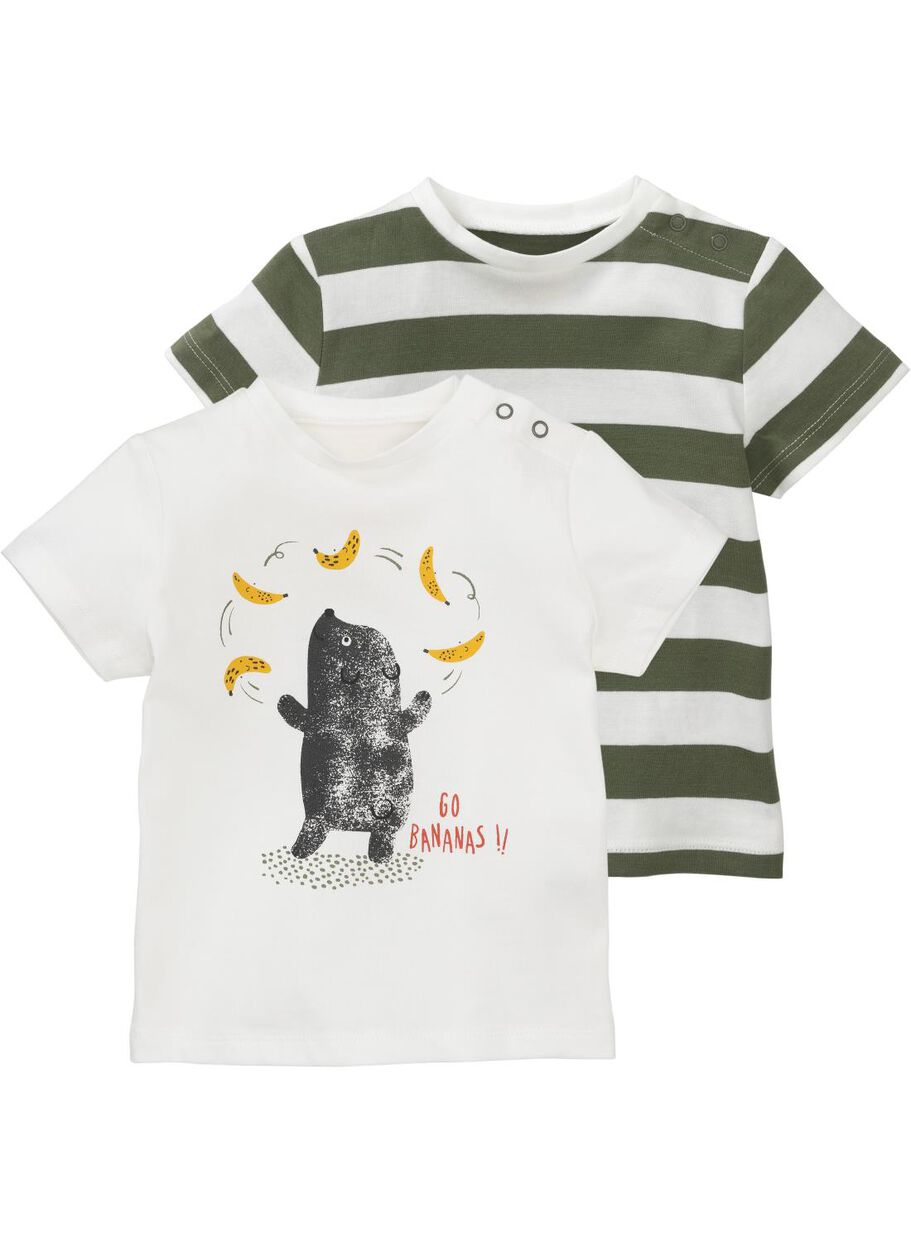 1121f54c4dbaa1 images baby T-shirts bamboo 2 pieces off-white off-white - 1000013214 -