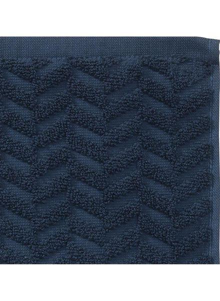 towel - 70 x 140 cm - heavy quality - dark blue zigzag dark blue towel 70 x 140 - 5240184 - hema