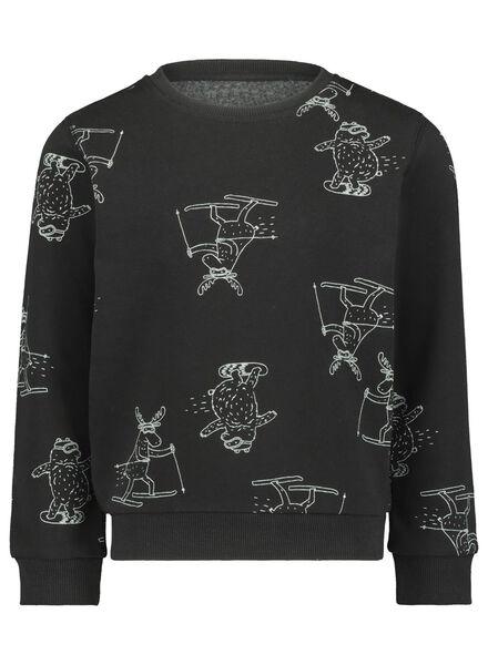 children's sweater black black - 1000017206 - hema