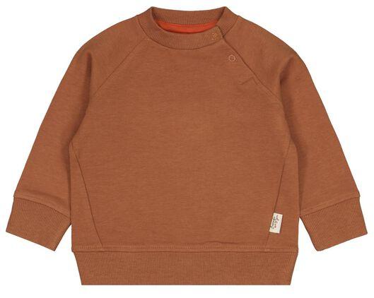 Babyoberteile - HEMA Baby Sweatshirt Mit Bambus Braun - Onlineshop HEMA