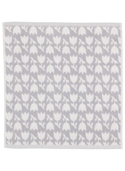 kitchen towel 50x50 tulip - white/grey - 5400154 - hema