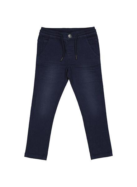 pantalon enfant bleu foncé bleu foncé - 1000013790 - HEMA