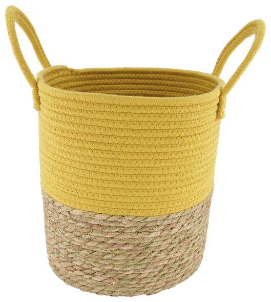 Korb mit Henkeln, 29 x Ø 29 cm, naturfarben/gelb - 39811133 - HEMA