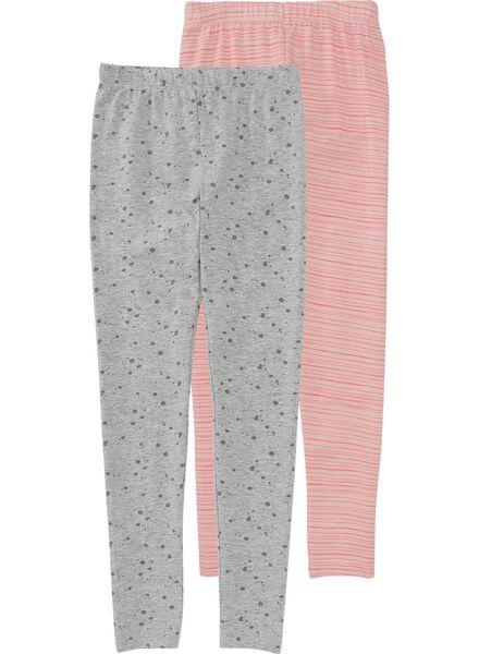 2-pack children's leggings light pink light pink - 1000005751 - hema