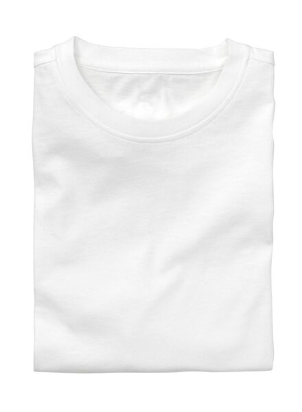 2-pack men's regular fit T-shirts white white - 1000005961 - hema