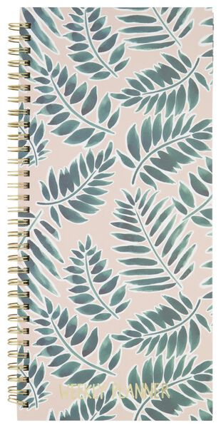 weekly planner spiral with stickers 27x13 - 14100076 - hema