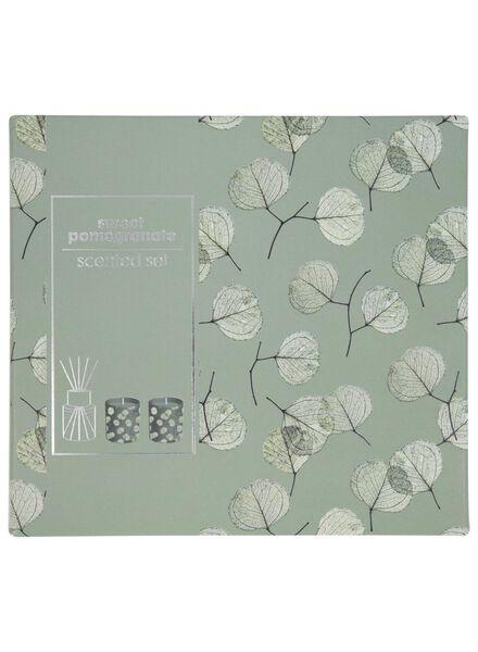 coffret-cadeau bougies parfumées - grenade - 13501983 - HEMA