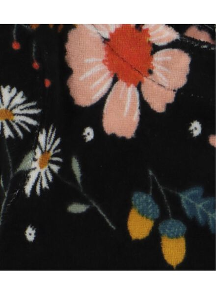 baby dress velour black black - 1000016877 - hema
