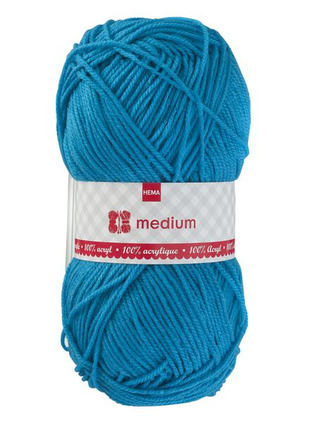 Strickgarn Medium – 100 g Medium, 100 g aqua - 1400177 - HEMA