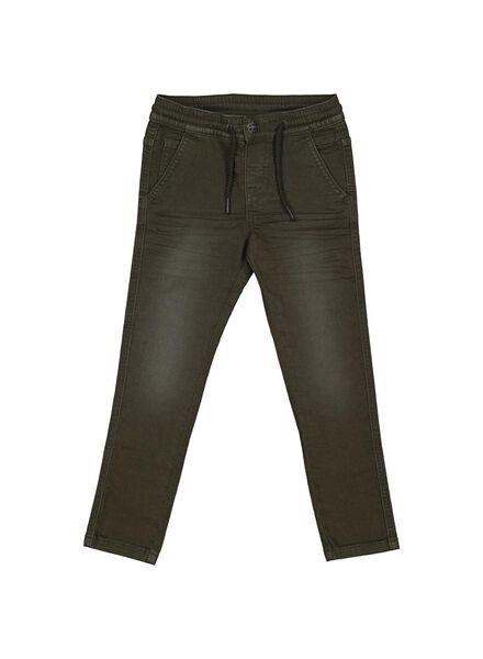 pantalon enfant vert foncé vert foncé - 1000013788 - HEMA