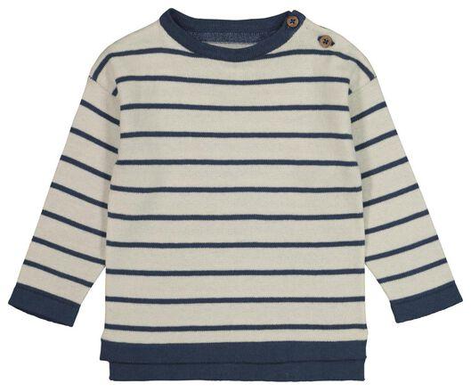 HEMA Baby-Pullover, Gestreift Blau