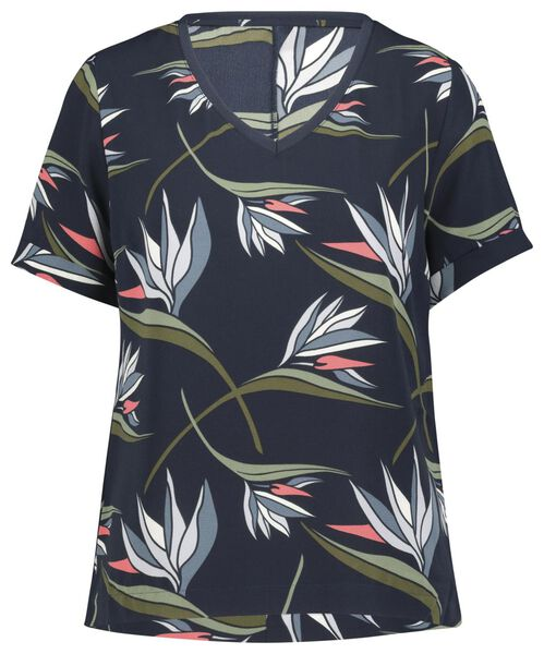 Damen-T-Shirt, recycelt blau blau - 1000022995 - HEMA