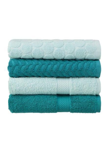 serviette de bain-50x100 cm-qualité épaisse-menthe pois - 5240174 - HEMA
