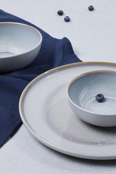 petite assiette - 20 cm - Helsinki - émail réactif - gris clair - 9602014 - HEMA